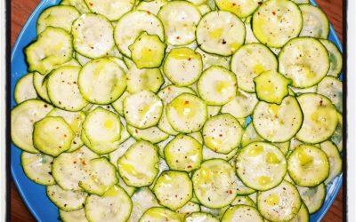 Carpaccio di zucchini ( courgetten carpaccio)
